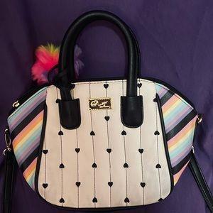 Betsey Johnson small rainbow handbag